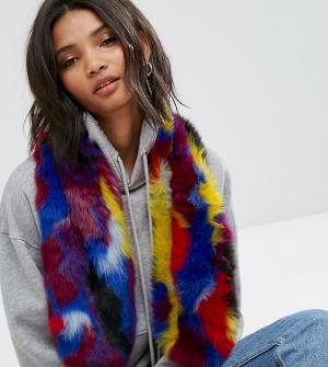 My Accessories Разноцветный шарф из искусственного меха. Цвет: мульти