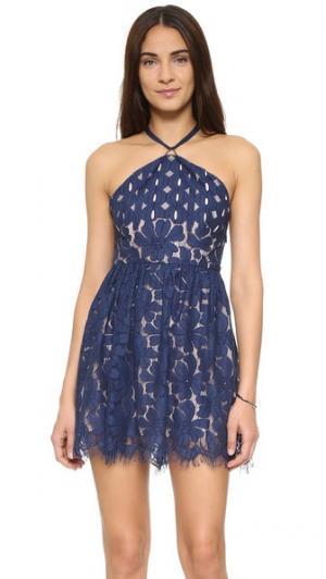 Платье-солнце Cassia STYLESTALKER. Цвет: темно-синий