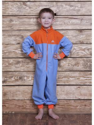 Комбинезон ЛисФлис. Цвет: голубой, оранжевый
