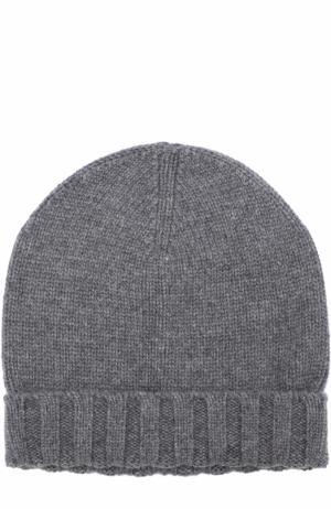 Кашемировая шапка бини Ermenegildo Zegna. Цвет: серый