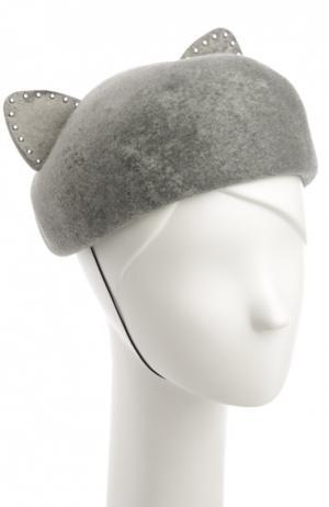 Шляпа Eugenia Kim. Цвет: серый