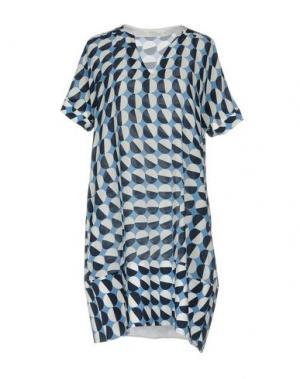 Короткое платье BARBA Napoli. Цвет: пастельно-синий