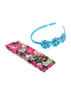 Комплект (Ободок - 1 шт., повязка на голову шт.) Olere. Цвет: голубой, зеленый, розовый, фиолетовый