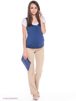 Брюки для беременных ФЭСТ. Цвет: бежевый