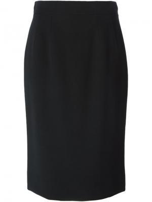 Классическая юбка-карандаш Dolce & Gabbana. Цвет: чёрный