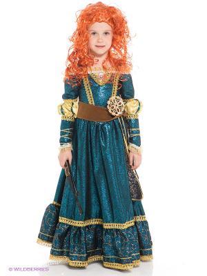 Карнавальный костюм Принцесса Мерида Батик. Цвет: синий