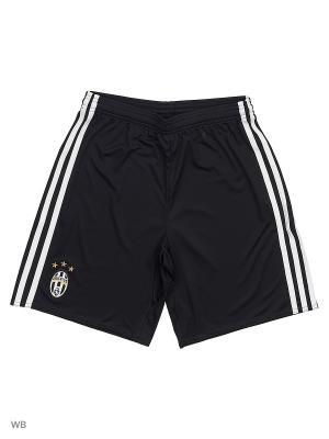 Шорты спортивные дет. JUVE H SHO Y  BLACK/WHITE Adidas. Цвет: черный
