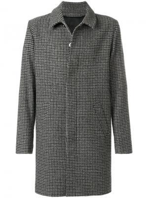 Пальто в ломаную клетку Harmony Paris. Цвет: коричневый
