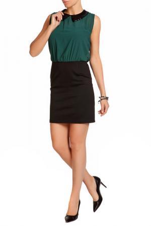 Платье LEIDIRO. Цвет: черный, зеленый