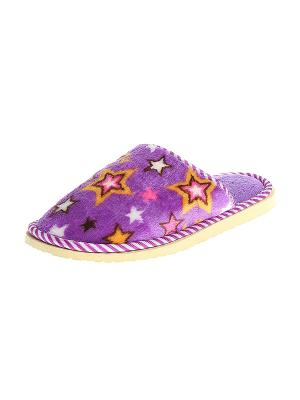 Тапочки домашние женские Migura. Цвет: фиолетовый, оранжевый, розовый, белый, коричневый