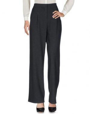 Повседневные брюки YERSE. Цвет: стальной серый