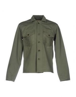 Джинсовая рубашка R.D.D. ROYAL DENIM DIVISION BY JACK & JONES. Цвет: зеленый-милитари