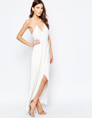 Keepsake Белое платье макси Oasis. Цвет: белый