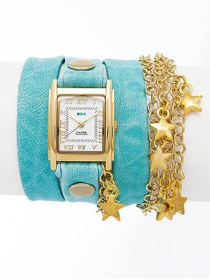 Часы La Mer Collections. Цвет: бирюзовый, золотистый