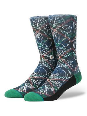 Носки SQUAD WADE FLORAL PLAID (SS17) Stance. Цвет: черный, белый, зеленый
