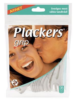 Флоссер Plackers Grip. Цвет: белый, зеленый