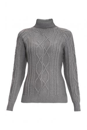 Джемпер из шерсти с шелком 136700 Sweet Sweaters. Цвет: серый