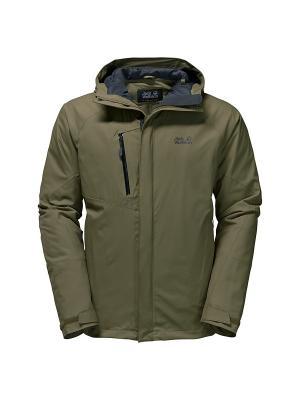 Куртка TROPOSPHERE DF O2+ INS JKT M Jack Wolfskin. Цвет: оливковый