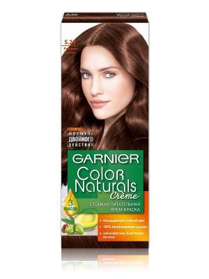 Стойкая питательная крем-краска для волос Color Naturals, оттенок 5.23, Розовое дерево Garnier. Цвет: коричневый