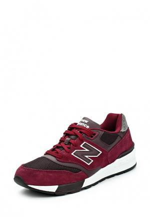 Кроссовки New Balance. Цвет: бордовый