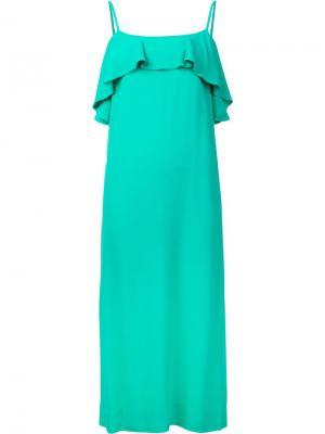Платье на бретелях Pedernal Apiece Apart. Цвет: зелёный