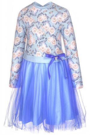 Платье M&D. Цвет: светло-голубой