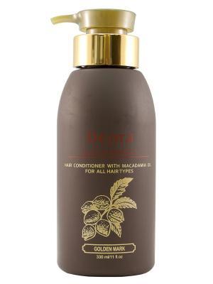 Кондиционер с маслом макадамии для всех типов волос, 330 мл. Deora Cosmetics. Цвет: бежевый