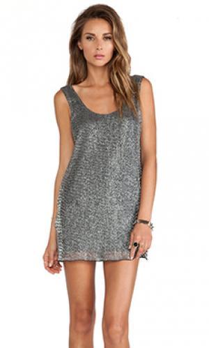 Платье nova Lovers + Friends. Цвет: серый