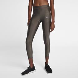 Женские слегка укороченные тайтсы для бега  Speed Nike. Цвет: коричневый