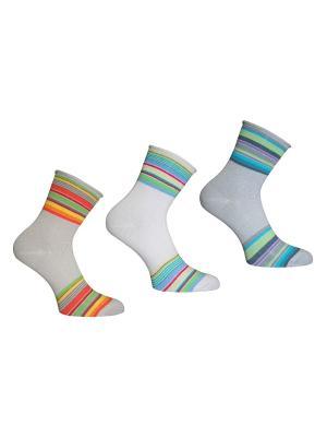 Носки 3 пары Master Socks. Цвет: белый, серый, бежевый