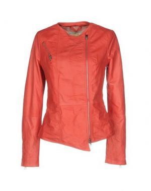 Куртка VINTAGE DE LUXE. Цвет: коралловый