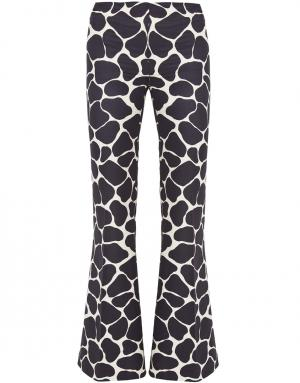 Шелковые брюки A.W.A.K.E.. Цвет: кремовый, черный