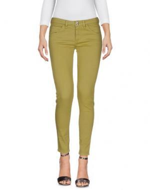 Джинсовые брюки NINE:INTHE:MORNING. Цвет: зеленый-милитари