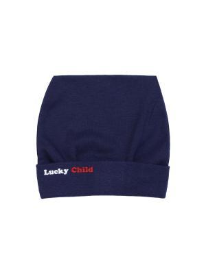 Шапка Парк Аттракционов Lucky Child. Цвет: синий, бледно-розовый