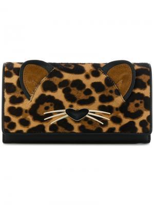 Кошелек с леопардовым узором Kate Spade. Цвет: чёрный
