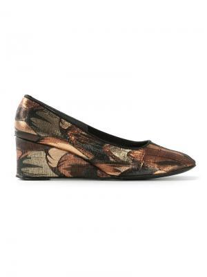 Туфли на платформе Biba Vintage. Цвет: металлический