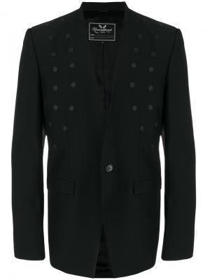 Пиджак с заклепками Unconditional. Цвет: чёрный