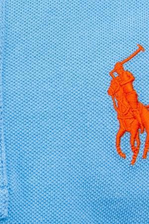 Лонгслив с вышитым логотипом Ralph Lauren Children. Цвет: голубой
