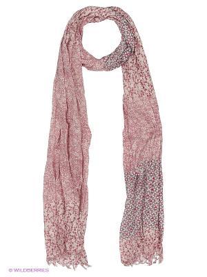 Платок United Colors of Benetton. Цвет: бледно-розовый, кремовый, темно-красный