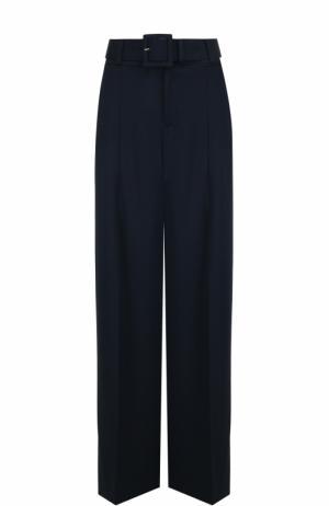 Широкие однотонные брюки со стрелками Oscar de la Renta. Цвет: темно-синий
