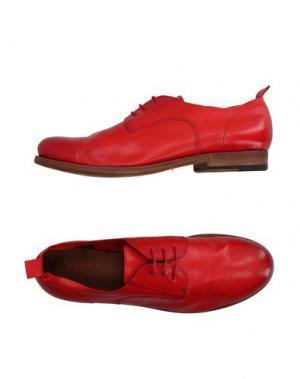 Обувь на шнурках INK. Цвет: красный