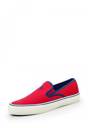 Слипоны Polo Ralph Lauren. Цвет: красный