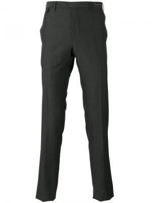 Классические зауженные брюки с принтом Pt01. Цвет: серый