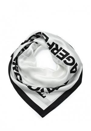 Платок Karl Lagerfeld. Цвет: белый