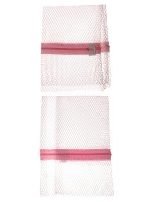 Мешок для стирки белья, набор из 2 шт., размер 50*40 см Радужки. Цвет: белый