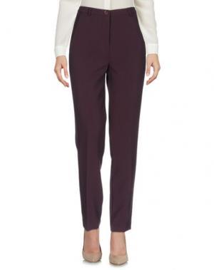 Повседневные брюки LA ROSE. Цвет: баклажанный