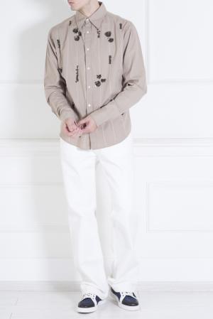 Хлопковая рубашка Magnolia Parosh. Цвет: бежевый