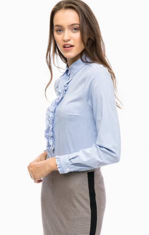 Хлопковая рубашка в полоску MORE &. Цвет: синий