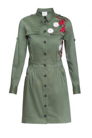 Платье из хлопка 184676 Anna Rita N. Цвет: зеленый