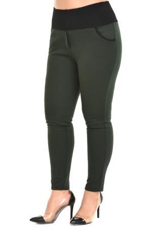 Зауженные брюки с поясом на резинке Svesta. Цвет: темно-зеленый